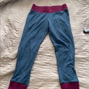Navy and maroon leggings